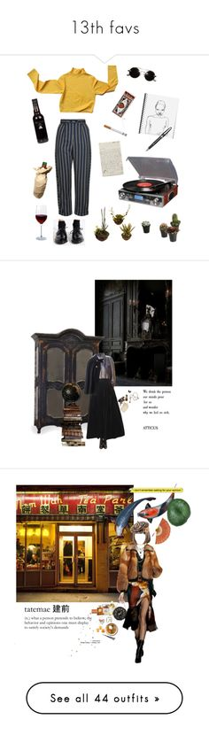 """""""13th favs"""" by nieboskakara ❤ liked on Polyvore featuring Dr. Martens, Topshop, Crosley Radio & Furniture, Montblanc, BRONTE, Artland, Pour La Victoire, Yves Saint Laurent, Cultura and Local Celebrity"""