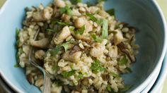 """Barley """"Risotto"""" with turkey and mushrooms - Thanksgiving Leftovers - Recipes from NYT Cooking"""