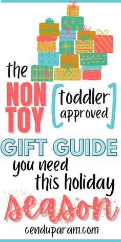 The ultimate list of non toy holiday gifts for kids. Make your toddler's Christmas extra special without adding all that clutter at home. These toddler gifts that aren't toys are fun, unique and creative presents. Your kid will love these Christmas gift ideas and they're practical gifts that get lots of use. Toddler Christmas gift guide will give you tons of unique gift suggestions. #NonToyGifts #ToddlerGifts #ChristmasGiftsForKids #HolidayGiftGuide #ChristmasGiftGuide #KidsGiftGuide Toddler Christmas Gifts, Christmas Gift Guide, Toddler Gifts, Holiday Gifts, Toddler Snacks, Toddler Toys, Toddler Activities, Gift Suggestions, Gift Ideas