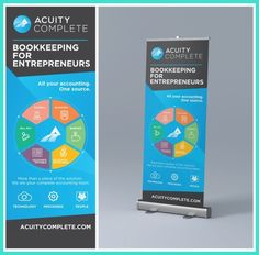Hip Design Retractable Banner on Fast Deadline for Accounting Tech Company Technology enabled remote and virtual bookkeeping for entrepreneurs. Event Banner, Web Banner, Banners, Signage Design, Banner Design, Wedding Website Examples, Company Signage, Retractable Banner, Shop Signs