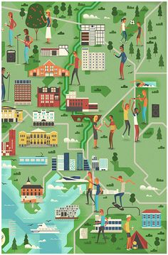 One of my favourite magazines Monocle created a city survey of Oslo (my current home) in their issue. In addition, although very small, they also included the VisitOslo logo. World Cities, Countries Of The World, Visit Oslo, Northern Lights Norway, San Diego City, Norway Travel, City Illustration, Map Vector, Map Design