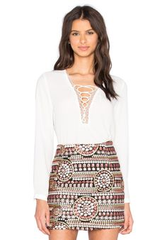 0d4f3ed831af Free People Lace Up Top in White