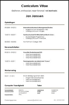 Stand out from other candidates. Creative cv template in word and