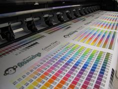 Lots of colour charts being printed for our customers.