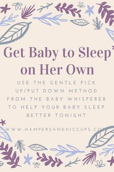 Are you having trouble with sleep problems? Wondering how to get baby to sleep in his crib? How to get baby to sleep on his own? Follow the EASY routine outlined by the baby whisperer to get baby sleeping on her own. Use techniques and tools like shush-pat, pick up/put down, wake to sleep and more to fix accidental parenting mistakes that indefinitely get worse with time. Start today. Don't waste another night. Get your sleep back now