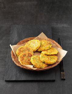 Korean corn pancakes (Oksusu-Jeon 옥수수전) - A popular pancakes to kids