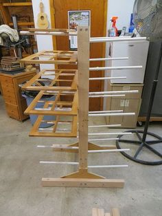 Cabinet door drying rack \u2026 & DIY Cabinet door drying rack from pvc pipe \u0026 2x4 lumber. | Wood ...