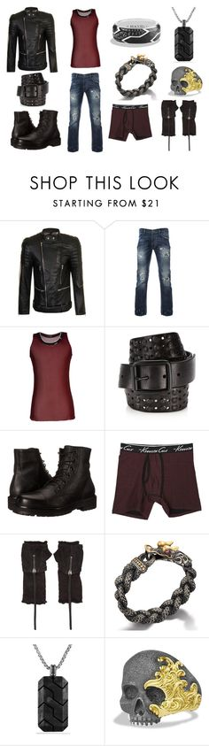 """""""Chase 187"""" by tundratyler on Polyvore featuring Sons of Heroes, Raf Simons, John Varvatos * U.S.A., Marc Jacobs, Kenneth Cole Reaction, ISABEL BENENATO, John Hardy, David Yurman, men's fashion and menswear"""