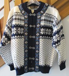 For sale in our eBay store, click on photo for full details.  VTG Nordstrikk Norway Womens Small Sweater Wool Nordic Embroidered Pewter Clasp  #Nordstrikk #sweater #wool #vintage #Norway #fashion