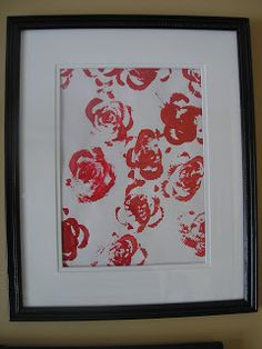 Celery Stamping for Valentine rose art - Create with Kiddos