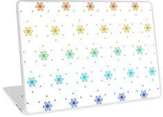 'Flower Dot Pattern in Rainbow Colours' Laptop Skin by craftymummy Rainbow Colours, Buy Flowers, Framed Prints, Canvas Prints, Laptop Skin, Floor Pillows, Diy Gifts, Color Pop, Duvet Covers
