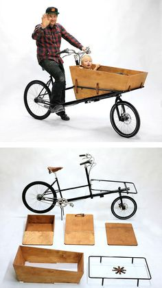 DIY Cargo Bike von Pelago Bicycles rnrnSource by guenterra Retro Rad, Velo Retro, Cool Bicycles, Cool Bikes, Pimp Your Bike, Velo Cargo, Materiel Camping, Bike Trailer, Kart