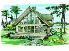 A-Frame House Plan, 032H-0079