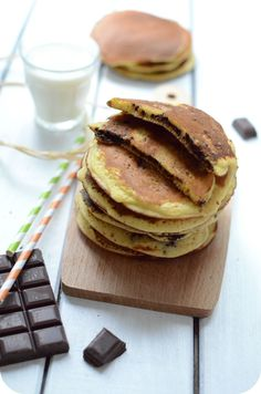Pancakes à la Farine de Maïs Crepes And Waffles, Juice Plus, Beignets, Best Dishes, Brunch, Healthy Eating, Gluten Free, Treats, Cooking