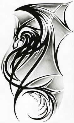 celtic dragon tribal tattoos | Dragon tattoo II. by *Tatsu87 on deviantART