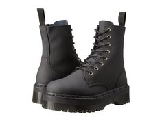 Dr. Martens Women`s Jadon Aggy Style BLACK Ajax. Ajax leather upper. The Jadonboots by Dr. Martens® will take your style to new heights. US 9 EU 41 UK 7. Air-cushioned rubber outsole is slip-resistant with a high degree of oil, fat, petrol, alkali, and abrasion resistance and has first-class energy absorbing qualities in the heel strike area. | eBay!