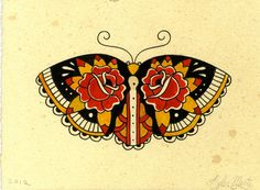 Beautiful colors and pattern for a butterfly. Could be a great idea for mastectomy tattoo. [p-ink.org]