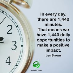 Make every minute count.