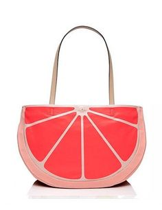 flights of fancy grapefruit tote - Kate Spade New York Kate Spade Totes, Kate Spade Tote Bag, Kate Spade Handbags, Tote Handbags, Fashion Handbags, Red Tote Bag, Tote Purse, Tote Bags, Red Purses
