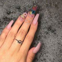 39 charming acrylic nail designs to copy right now 39 Perfect Nails, Gorgeous Nails, Pretty Nails, Best Acrylic Nails, Acrylic Nail Designs, Summer Toe Nails, Fire Nails, Manicure E Pedicure, Dream Nails