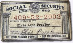 Elvis Social Security Number
