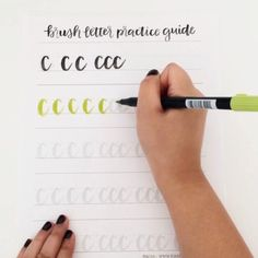 Want to get better at brush lettering? Get practicing with this guide! http://shop.randomolive.com/brushpractice?utm_content=buffer25821&utm_medium=social&utm_source=pinterest.com&utm_campaign=buffer. #brushlettering