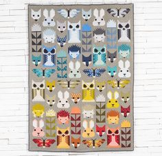 Robert Kaufman Elizabeth Hartman Pacific Fabric & Fancy Forest Pattern Quilt Kit at Craftsy.com