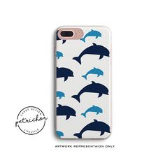Dolphin iPhone Case - iPhone 7 Case - iPhone 7 Plus Case - iPhone 6 Case - iPhone 8 Case - iPhone X Case - iPhone 8 Plus Case - Clear/Black by PetrichorCases on Etsy Mobile Phone Cases, Iphone 8 Cases, Iphone 8 Plus, Environmentally Friendly Packaging, Bright Pictures, 6s Plus Case, New Product, Vibrant Colors, Creative