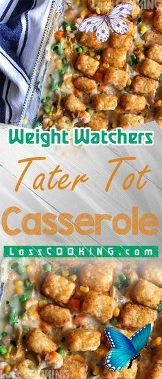 tater tot casserole - weight watchers friendly weight watchers tater tot casserole // tater tot casserole, tater tot casserole with ground beef, tater tot casserole recipes, tater tot casserole easy, tater tot casserole breakfast, tater tot casserole with chicken, tater tot casserole crock pot, tater tot casserole recipes easy, Tatertotcasserole, Tatertotcasserole,<br> I love this Weight Watchers Tater Tot Casserole because even though it's not low points and easy to make. It's not healthy… Tator Tot Casserole Recipe, Tater Tot Recipes, Ground Beef Casserole, Easy Casserole Recipes, Fun Easy Recipes, Ww Recipes, Breakfast Casserole, Weight Watchers Casserole, Weight Watchers Snacks