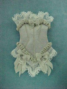 lingerie corset gray $ 12 00