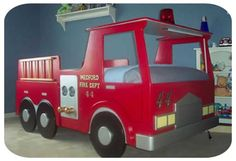 Deluxe Fire Engine Bed Plans