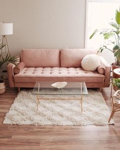 43 Attractive Pink Living Room Designs Ideas That Looks So Charming - Color schemes come and go with different design trends, but pink has always been a favorite among designers. Contrary to popular belief, it's not just. Boho Living Room Decor, Living Room Sofa, Home Living Room, Living Room Designs, Sofa In Bedroom, Cute Room Decor, Dream Decor, Living Room Inspiration, Home Interior Design