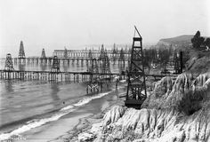 Summerland oil piers near Santa Barbara, c. 1901-1903