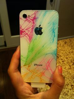 I broke the back of my IPhone and I was so sad, so I went online I found out that I could draw on my iPhone so I did! I used colored markers and drew over the cracks with the markers. It took me five minutes! It was so cool at the end! Don't forget to wipe the extra color off with a paper towel. Good luck!
