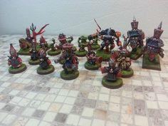 BLOOD BOWL CHAOS DWARF TEAM Custom & Propainted 18 miniatures #GAMESWORKSHOP