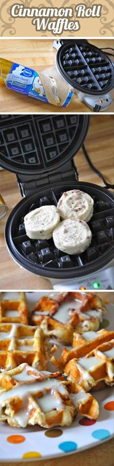 How to make cinnamon waffles…if only I had a waffle maker.