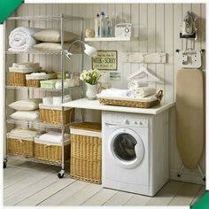 The Wonderful of Vintage Laundry Room Decor Ideas — D'Home Decoration Laundry Room Cabinets, Laundry Room Organization, Laundry Room Design, Laundry Decor, Laundry Closet, Basement Laundry, Garage Laundry, Laundry Area, Modern Laundry Rooms