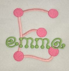 Diva Dots Embroidery Font