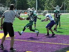 Devin Hendrix scores a touchdown to give the Greenville freshmen team a 6-0 lead against Eaton. #advocate360