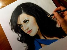 Color drawing of Katy Perry [Time lapse]