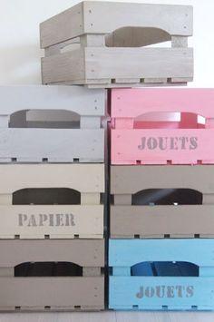 #Recycler et #détourner des #cagettes
