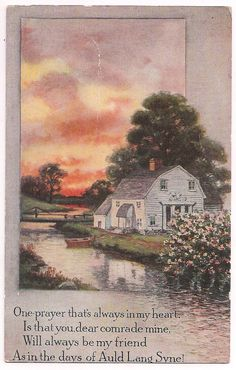 Auld Lang Syne Cottage Scene and Prayer... I think this is nice for all of you sisters