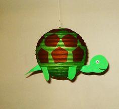 Turtle Paper Lantern. (Purple) Party Decorations, Baby Shower, Room Decor, nursery decor.