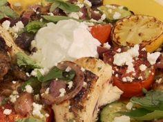 Butterflied Chicken Greek Style from FoodNetwork.com