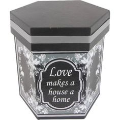 Fireside Home - FB-114 Boxes - Hexagon Exl - Love...Home box #home #decor #gift #nestedbox #homeaccent #seasonaldecor #vintage #antique  (http://www.firesidehome.ca/fb-114-boxes-hexagon-exl-love-home-box/)
