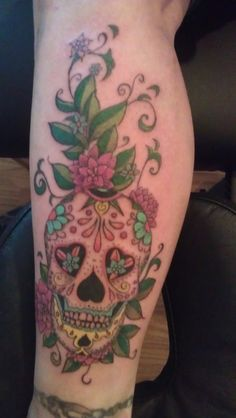 sugar skull tattoo