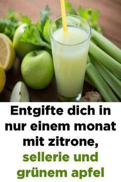 Sellerie zur Gewichtsreduktion mit Zitrone