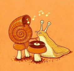 Snail playing records - great speaker :o)