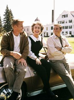 "Joan Crawford, getting her kicks on a 1963 episode of ""Route 66"" with Martin Milner and Glenn Corbett. The episode is called ""Same Picture, Different Frame"" and was shot in Poland Spring, Maine......no where near Route 66."