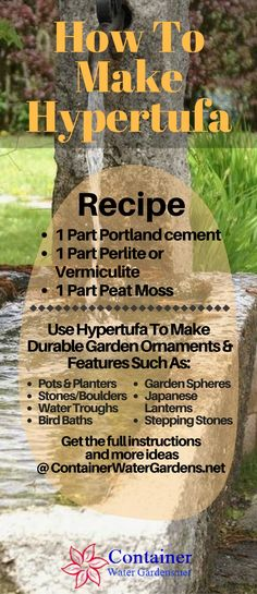 Make Lightweight Garden Art Projects That Last With Hypertufa See the full instructions and outdoor decorative objects you can make with hypertufa. The post Make Lightweight Garden Art Projects That Last With Hypertufa appeared first on Garden Easy. Concrete Crafts, Concrete Art, Concrete Projects, Concrete Table, Garden Crafts, Garden Projects, Garden Art, Art Projects, Garden Paths